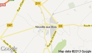 Plan de Neuville-aux-Bois