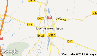 Plan de Nogent-sur-Vernisson