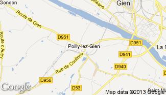 Plan de Poilly-lez-Gien
