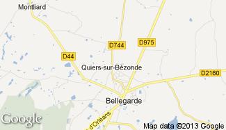 Plan de Quiers-sur-Bézonde