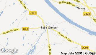 Plan de Saint-Gondon