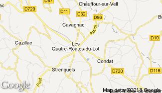Plan de Les Quatre-Routes-du-Lot