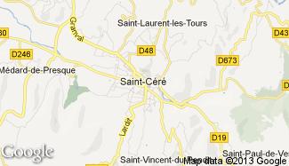 Plan de Saint-Céré