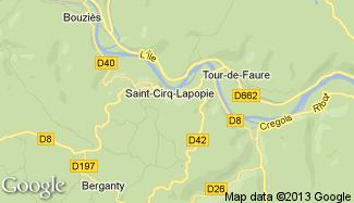 Plan de Saint-Cirq-Lapopie