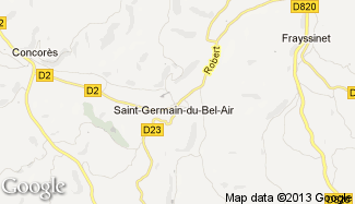 Plan de Saint-Germain-du-Bel-Air