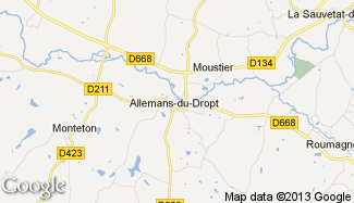 Plan de Allemans-du-Dropt