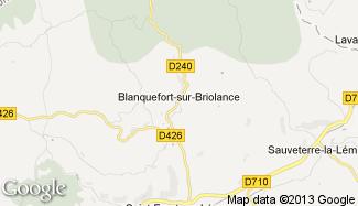 Plan de Blanquefort-sur-Briolance