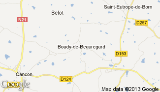 Plan de Boudy-de-Beauregard