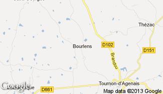 Plan de Bourlens