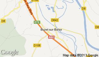Plan de Buzet-sur-Baïse