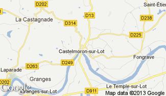 Plan de Castelmoron-sur-Lot