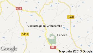 Plan de Castelnaud-de-Gratecambe