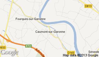 Plan de Caumont-sur-Garonne
