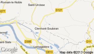 Plan de Clermont-Soubiran