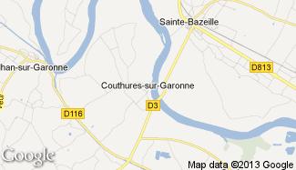 Plan de Couthures-sur-Garonne