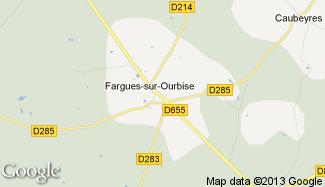 Plan de Fargues-sur-Ourbise