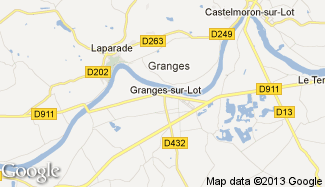 Plan de Granges-sur-Lot