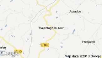 Plan de Hautefage-la-Tour
