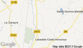 Plan de Labastide-Castel-Amouroux