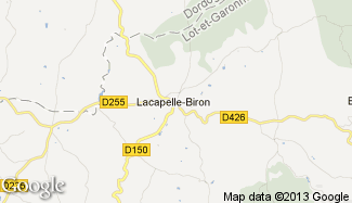 Plan de Lacapelle-Biron