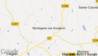 Plan de Montagnac-sur-Auvignon
