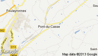Plan de Pont-du-Casse