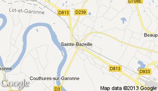 Plan de Sainte-Bazeille