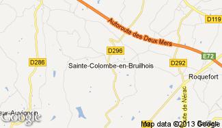 Plan de Sainte-Colombe-en-Bruilhois