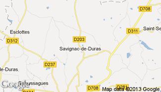 Plan de Savignac-de-Duras