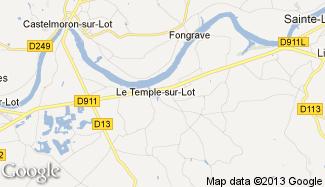 Plan de Le Temple-sur-Lot