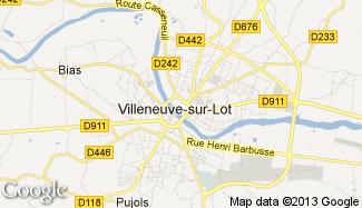 Plan de Villeneuve-sur-Lot