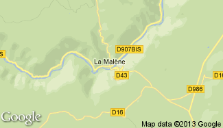 Plan de La Malène