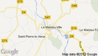 Plan de Le Malzieu-Ville