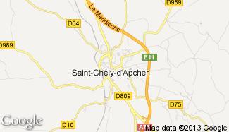 Plan de Saint-Chély-d'Apcher
