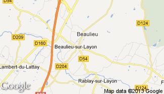 Plan de Beaulieu-sur-Layon