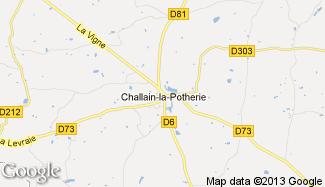Plan de Challain-la-Potherie
