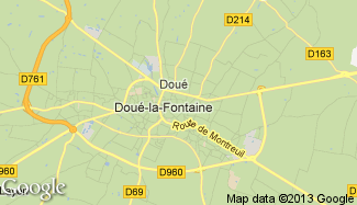 Plan de Doué-la-Fontaine