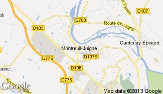 Plan de Montreuil-Juigné