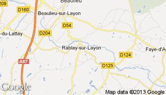 Plan de Rablay-sur-Layon