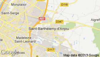 Plan de Saint-Barthélemy-d'Anjou