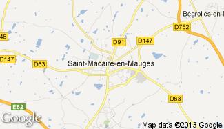 Plan de Saint-Macaire-en-Mauges