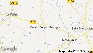 Plan de Saint-Rémy-en-Mauges