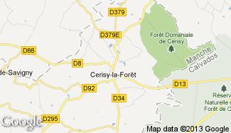 Plan de Cerisy-la-Forêt