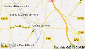 Plan de Condé-sur-Vire