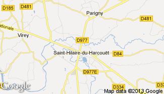 Plan de Saint-Hilaire-du-Harcouët