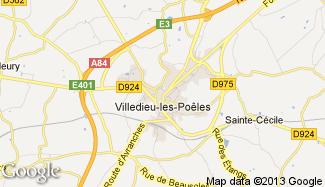 Plan de Villedieu-les-Poêles
