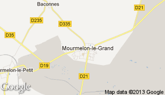Plan de Mourmelon-le-Grand