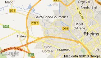 Plan de Saint-Brice-Courcelles