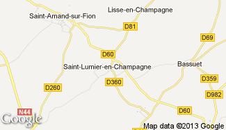 Plan de Saint-Lumier-en-Champagne
