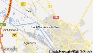 Plan de Saint-Martin-sur-le-Pré